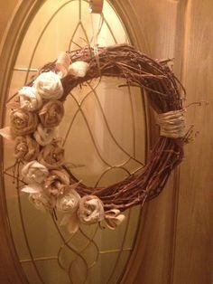 My DIY burlap wreath I made