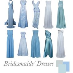 """""""Bridesmaids' Dresses: Ice Blue"""" by pinkrubbersoul on Polyvore"""
