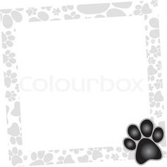 Dog Paw Print Stencil for Nails | Paw Print Claws