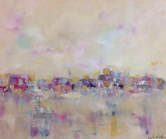 Colorful Abstract Cityscape Skyline City Valentine by lindadonohue, $285.00