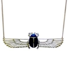 Scarab and Isis Wing Necklace by Zoe & Morgan I Love Jewelry, Jewelry Box, Jewelry Necklaces, Jewellery, Egyptian Scarab, Ancient Egyptian Art, Insect Jewelry, Wing Necklace, Egyptian Jewelry