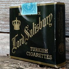 Vintage 1939 Lord Salisbury Turkish Cigarette Pack with Tax Stamp by vavoombisbee on Etsy Salisbury, Lord, Stamp, Unique Jewelry, Handmade Gifts, Etsy, Vintage, Kid Craft Gifts, Stamps