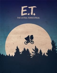 E.T. the Extra Terrestrial Minimalist Poster