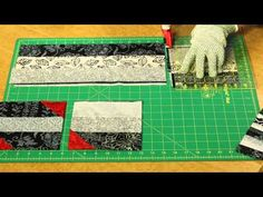 """How To Make Quilting Quickly's """"Smoke And Fire"""": Graphic batik fabrics with a pop of red - YouTube"""