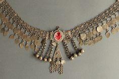 A beautiful silver Iraqi Kurdish head ornament.  From Dagmara Haladaj's collection.