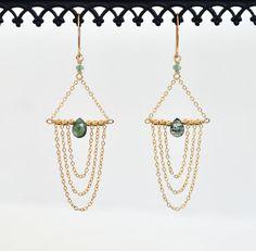 Emerald oorbellen-Gold gevulde Oorbellen Emerald groen