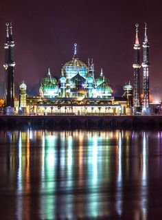 The Crystal Mosque or Masjid Kristal is a mosque in Kuala Terengganu, Terengganu, Malaysia. A grand structure made of steel, glass and crystal.