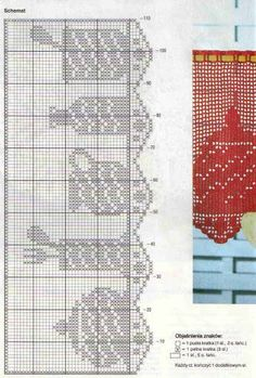 Crochet Curtain Patterns Part 7 - Beautiful Crochet Patterns and Knitting Patterns Crochet Curtain Pattern, Crochet Patterns Filet, Crochet Curtains, Curtain Patterns, Crochet Borders, Crochet Doilies, Knitting Patterns, Crochet Kitchen, Crochet Home
