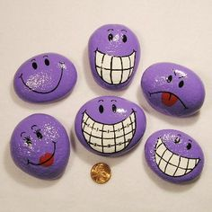 Funny Faces Painted Rocks