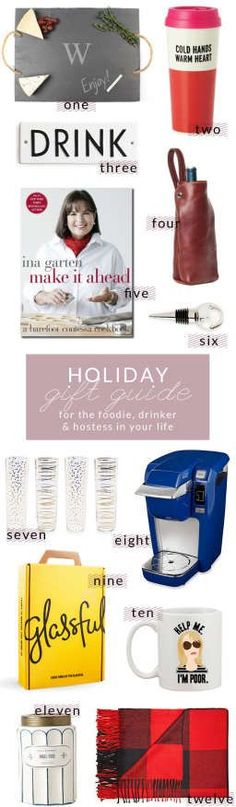 Holiday Gift Guide – For The…Foodie, Drinker, and Hostess In Your Life | Poor Little It Girl
