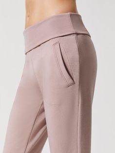 71c044682c Beyond Yoga Cozy Fleece Foldover Long Sweatpant. Cozy Fleece Foldover Long  Sweat Sweatpants in Brazen Blush
