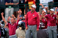 José María Olazábal, on day two of the 2012 Ryder Cup at Medinah. #RyderCup