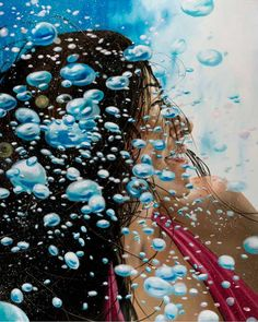 """Gallery Henoch - Eric Zener, Blue Smile, Oil on Canvas, 60"""" x 48"""""""