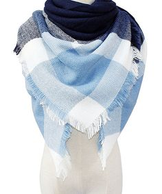 Another great find on #zulily! Katydid Collection Light Blue & Cream Plaid Blanket Scarf by Katydid Collection #zulilyfinds