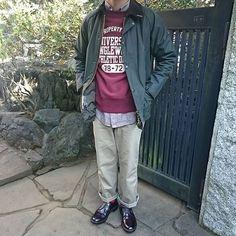 2016/12/21 12:35:10 new_crop 明日で年内仕事納めの予定ですが 何だか最近疲れ気味なので 今日も休み頂きました🙋 やる気が起こらなくて 困ったものです😖 #barbour #barbourbedale #cheswick #jcrew #gungho #alden #alden990 #バブアー #ビデイル #ガンホー #オールデン