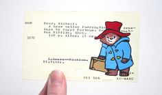 Paddington Bear on Library Card Print of my by WingedWorld