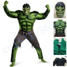 fa267681f1f7be The Avengers Hulk Costume for boys Cosplay Halloween Costume for kids  Carnival Clothes Children Gifts Fantasy Muscle Mask-in Boys Costumes from  Novelty ...