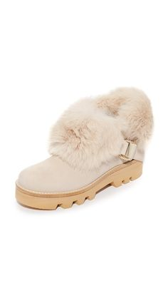 Rachel Zoe Voz Fur Boots - Sand