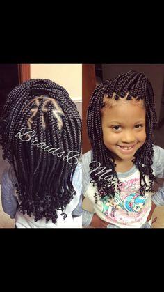 Kids box braids! #BraidsByMarijke #JacksonTnBraider Lil Girl Hairstyles, Cute Hairstyles For Kids, French Braid Hairstyles, Kids Braided Hairstyles, Box Braids Hairstyles, Cool Hairstyles, Hairstyle Ideas, Braided Mohawk, Teenage Hairstyles
