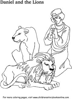 daniel and the lions den coloring page your browser does not support frames
