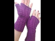 Loom Knit Harley Quinn Inspired Fingerless Gloves *FULL VIDEO with CLIPS* - YouTube
