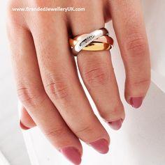 SHOP NOW Cartier 'Trinity de Cartier' Ring www. Cartier Jewelry, Gold Jewelry, Jewelry Rings, Jewelry Accessories, Cartier Rings, Cartier Wedding Rings, Cartier Panthere, Trinity Ring, Gold Ring Designs