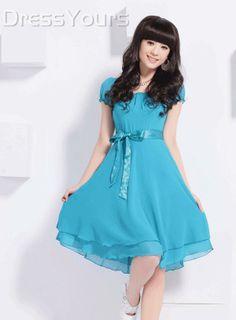 $ 15.99 2013 Summer Fashion  Short Sleeve Day Dress
