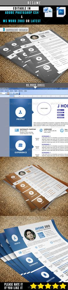 Made  Material Design Resume  Cv Template  Design Resume
