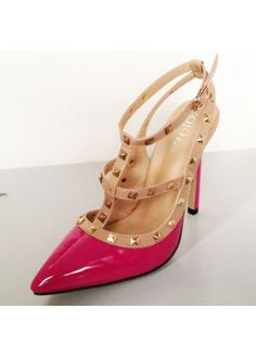 Enchanting Rose Patent Leather Rivet Decoration Strappy Sandals on sale only US$17.16 now, buy cheap Enchanting Rose Patent Leather Rivet Decoration Strappy Sandals at martofchina.com