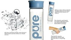 Product Review with a chance to win - The PURE Glass Water Bottle  Don't miss out on your chance!   http://crunchybeachmama.com/2014/02/pure-glass-water-bottle-giveaway/