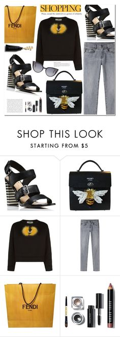 """Look Friday"" by makeupgoddess ❤ liked on Polyvore featuring Kate Spade, Fendi, Proenza Schouler and KAROLINA"