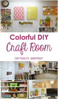 Craft Room Tour / Check out this colorful and fun craft room that Dena of Hearts and Sharts DIY'd completely from scratch! | Craftaholics Anonymous®