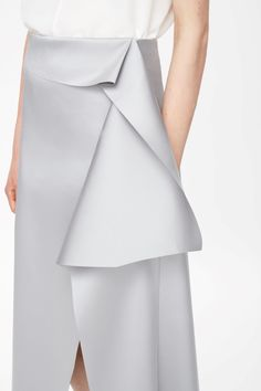 COS, Raw-cut draped skirt