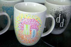 coffee mug and sharpie