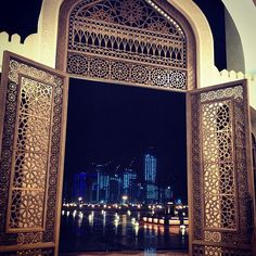 QATAR: Doha Qatar By It looks like a glorious gateway to the city. Beautiful Mosques, Beautiful Buildings, Beautiful Places, Places Around The World, Travel Around The World, Around The Worlds, Islamic Architecture, Art And Architecture, Places To Travel