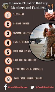 Financial #tips for Military Member and #Family   #finance #saving #military #budgeting #financetips #money #moneysaving  #personalfinance #financenews #credittiips #creditmanagemnet