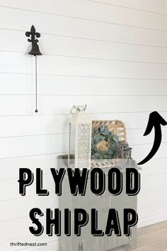 Love shiplap? Learn how to make a plywood shiplap wall! Plywood shiplap is cheaper, and an easy farmhouse diy. In this tutorial I will show you how to make a budget shiplap wall. Faux Shiplap, Making A Budget, Ship Lap Walls, Plywood, Furniture Makeover, Home Projects, Thrifting, Diy Home Decor, Nest