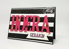 Stampin Utopia Bestel Stampin' Up! Hier. Geslaagd kaart, Stampin' Up! Letters for you, K.J.E.G. , Pop of Pink washi Tape