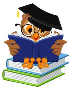 Owl Cartoon - Owl with School Books PNG Clipart Picture Owl Clip Art, Owl Art, Owl Classroom, Classroom Decor, Education Clipart, Education Logo, Education Quotes, School Clipart, Owl Cartoon