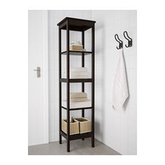 HEMNES Shelving unit, black-brown stain black-brown stain 16 1/2x67 3/4