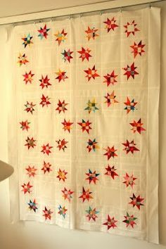 stars, stars, stars ...This would make a fun shower curtain and I bet I could do it all from stash fabric.