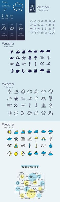 Weather icon set. Icons