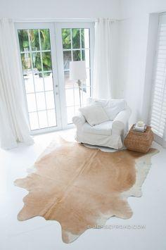 Jersey Road - Palomino Cowhide Rug, $329.00 (http://www.jerseyroad.com/palomino-cowhide-rug/) FREE SHIPPING USA & Canada wide.   100% top quality Brazilian cowhide rug. We ship USA and Canada wide.  Tags: #cowhide #cowrug #rug #leather #beautifulroom #dreamroom #bedroom #jerseyroadco #whiteonwhite #whiteroom #creamrug #palomino