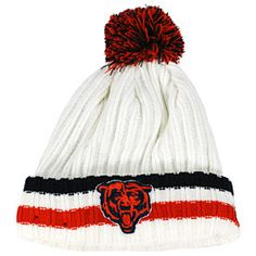 Keep warm this winter with this Chicago Bears Yester-Year Cuffed Knit Hat  from New Era! c6d2ae188cc3