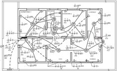 Finalizando o projeto de instalações elétrica residencial Electrical Panel Wiring, Electrical Plan, Electrical Projects, Electrical Installation, Beautiful House Plans, House Wiring, Civil Engineering, Autocad, House Floor Plans