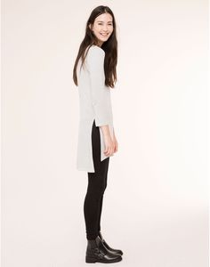 STRIPPED TUNIC T-SHIRT - T-SHIRTS AND TOPS - WOMAN - PULL&BEAR Israel