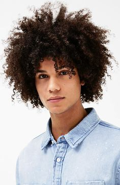 Men's Hairstyles Natural Afro. Photo: Bershka. #menshairstyles #menshair #afro