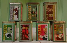 Gorgeous tin litho Durkee spice tins | Collectors Weekly
