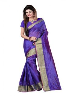 Buy Blue Plain Glory #Cotton #Saree form Godomart Online Shopping Store India