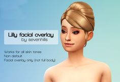 Lily face overlay at Sevenhills Sims via Sims 4 Updates